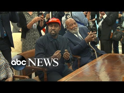 Kanye West visits the White House for a meeting with Trump