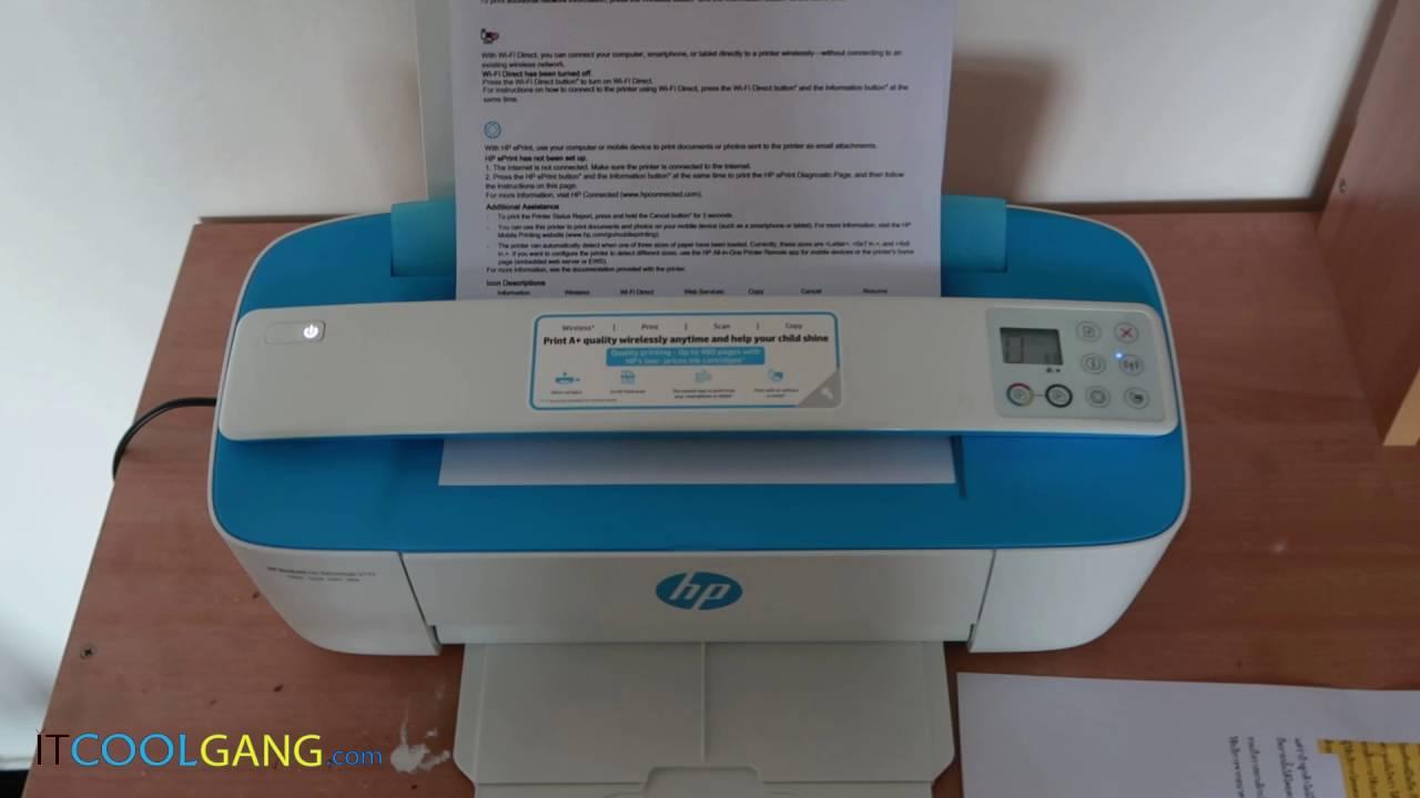 בנפט IT Review Clip : HP Deskjet Ink Advantage 3775 - YouTube SA-74