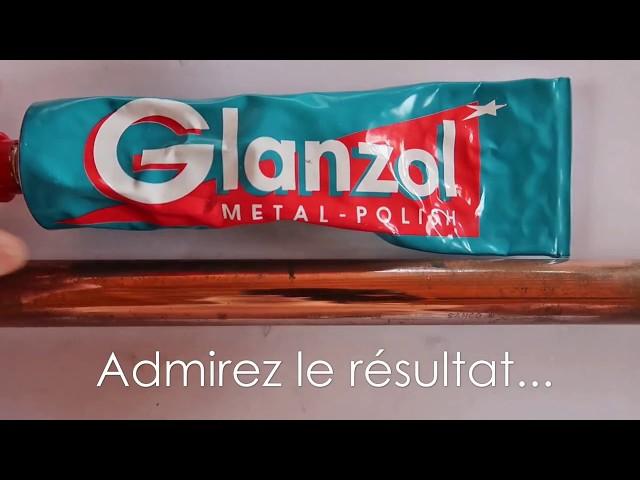 Rénovation SURPRENANTE dun tube en cuivre avec du Glanzol