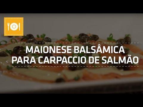 Maionese Balsâmica para Carpaccio de Salmão   Como Fazer   Shoptime