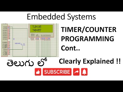 [ES-TE-26] 8051 Timer/Counter Programming continuation-lession-26