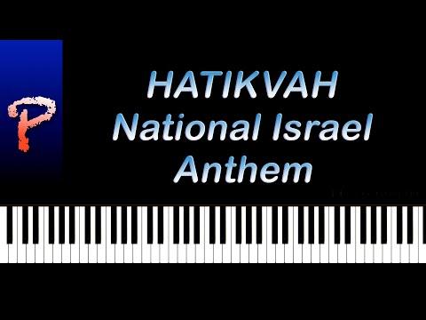 ''Hatikvah'' National Anthem of Israel - Piano Tutorial