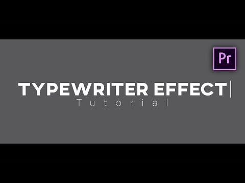 typewriter effect premiere pro
