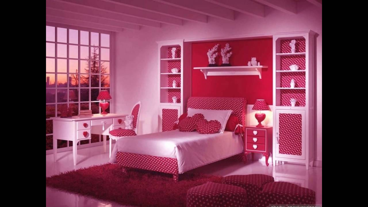Girls pink bedroom design ideas youtube for Bedroom designs youtube