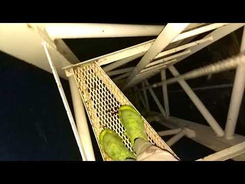 Climbing a nasty dangerous crane