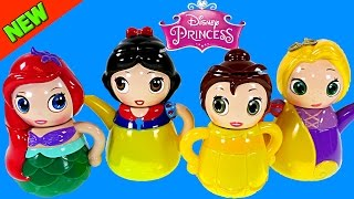 Disney Princess Tea Party Egg Surprise Mermaid Ariel Snow White Rapunzel Belle Playdough DCTC Toys
