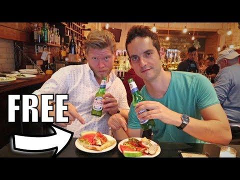 NYC ON A BUDGET - Best Happy Hour Bar's W/ FREE Food !🍺