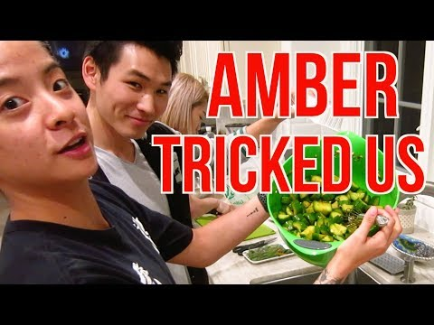 AMBER TEACHES CHINESE TO KOREANS! (MAFIA!)