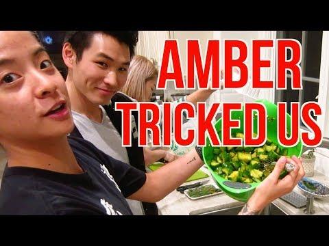 AMBER TEACHES CHINESE TO KOREANS! (MAFIA!)