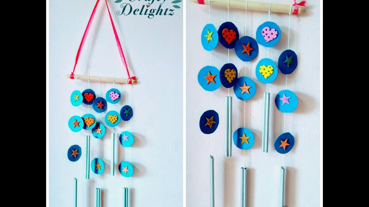 Nice Wall Hanging Craft Ideas For Kids Part - 1: How To Do Wall Hanging Craft Ideas For Kids/ Simple And Easy Decor For  Beginners- By Crafty Delightz