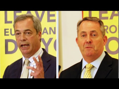 Grassroots Out Bristol Rally: Nigel Farage & Liam Fox June 2016
