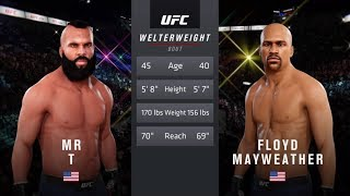 Mr. T vs. Floyd Mayweather (EA Sports UFC 3) - CPU vs. CPU