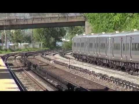 Metro North action at Glenwood Station