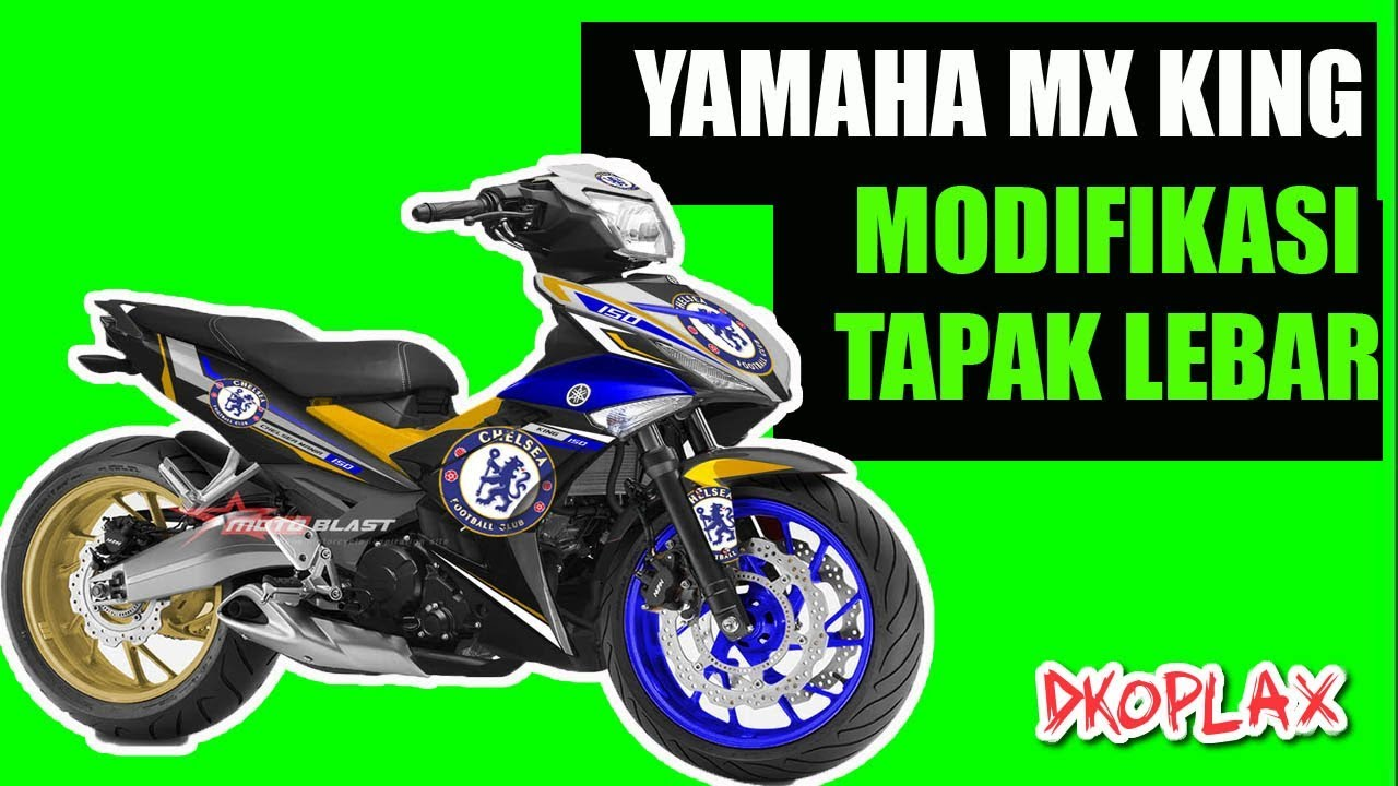 Yamaha Mx King Modifikasi Tapak Lebar Exciter Sniper Youtube