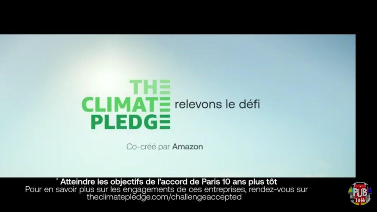 """Musique pub The Climate Pledge """"relevons le défi""""  juillet 2021"""