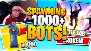 SPAWNING 1000+ BOTS in BATTLE LAB! (Fortnite Battle Lab)