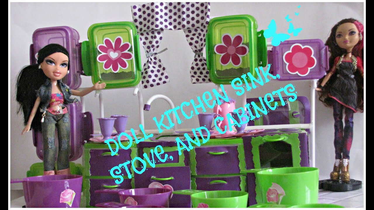 How to Make a Dollhouse Kitchen - Dollar Tree DIY FOR KIDS - Pte 1 ...