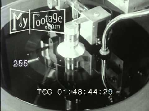 1950's CAPITOL RECORDS LOS ANGELES HOW RECORDS ARE MADE STOCK FOOTAGE -