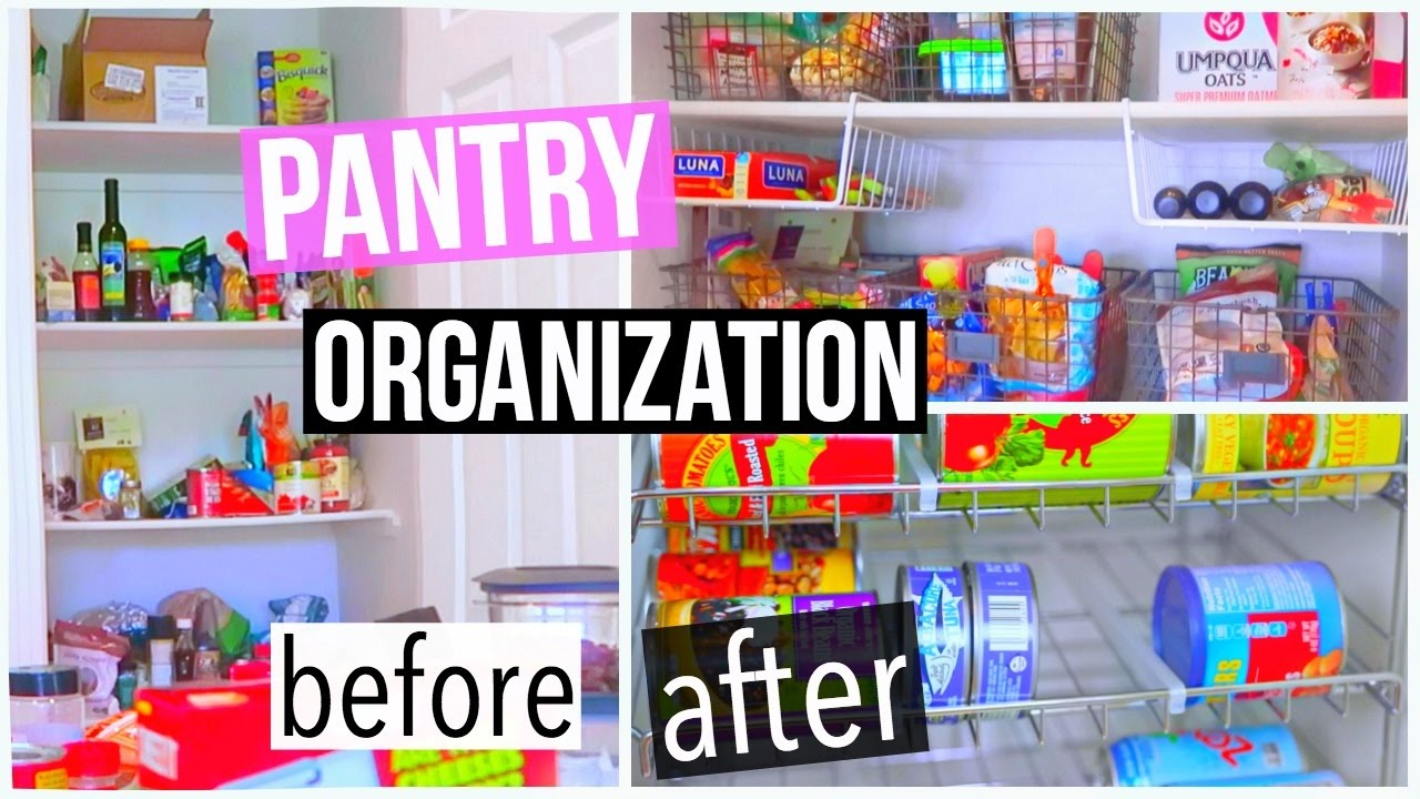 My Pantry Makeover! DIY Kitchen Pantry Organization!