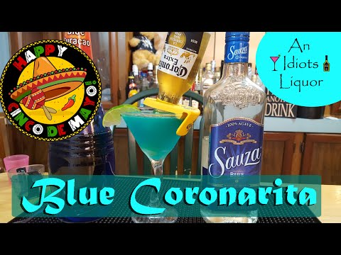 Blue Coronarita - Try This Drink Recipe For Cinco De Mayo. -  Margarita And A Corona.