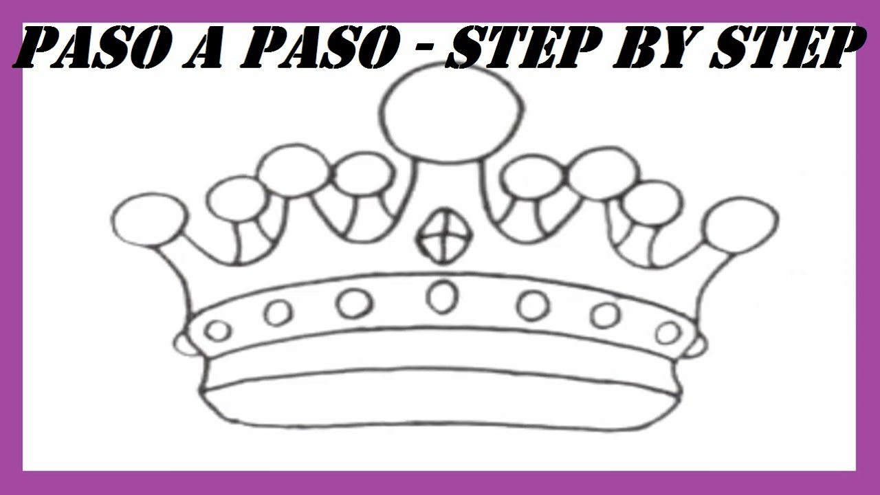 Como Dibujar Una Corona Paso A Paso L How To Draw A Crown Step By