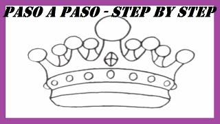Como dibujar una Corona paso a paso l How to draw a Crown step by step