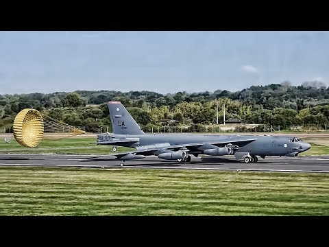 B-52 Bomber Lands In The United Kingdom