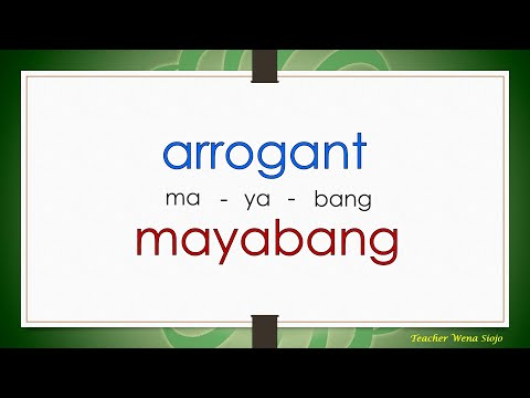 English Tagalog Negative Character Traits # 105 ( Advanced Level )