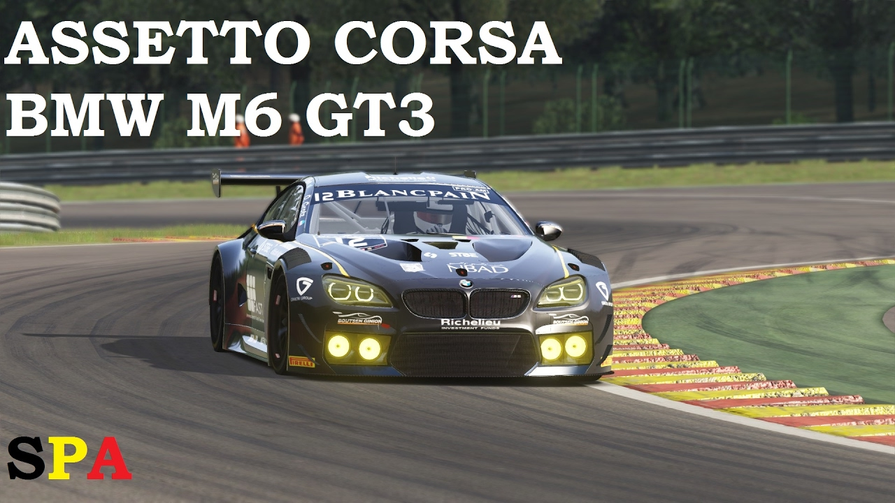 Assetto Corsa Bmw M6 Gt3 At Spa Francorchamps Youtube