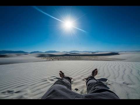 Sledding Down White Sands Of New Mexico!