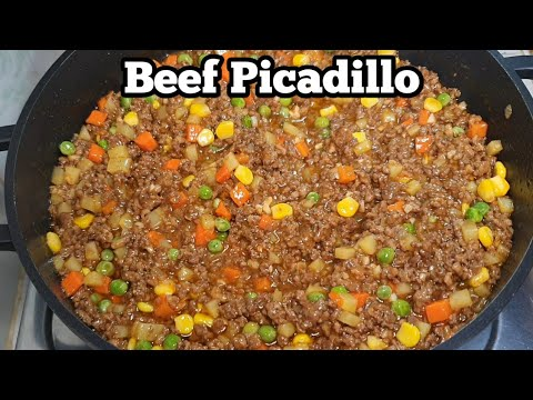 BEEF PICADILLO Filipino Style | How To Make Picadillo | Beef Giniling |