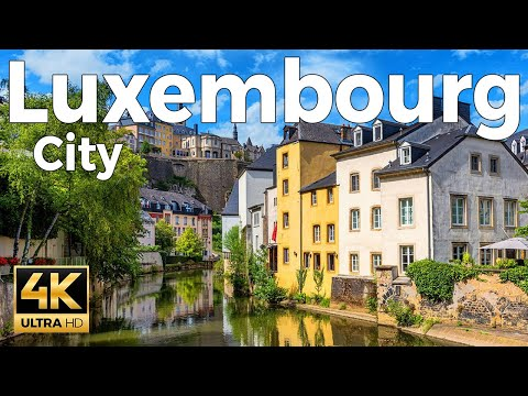 Luxembourg City Walking Tour (4k Ultra HD 60fps) – With Captions