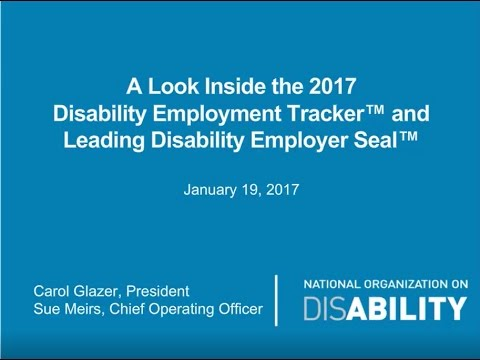 2017 Disability Employment Tracker & Leading Disability Employer Seal