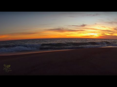 Sunset Over the Ocean in Malibu (30 minutes of soothing beach waves with Mermaid Linden)