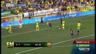 Gol de SANDRO - Villarreal vs FC Barcelona [0-1][31-08-2014][Jornada-2]