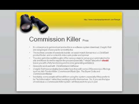 DON'T BUY Commission Killer - Commission Killer Review, July 2012