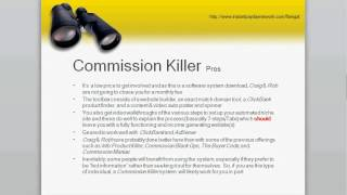 DON'T BUY Commission Killer - Commission Killer Review, July 2012