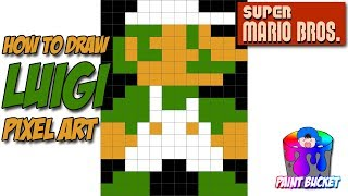 How To Draw A Jumping Mario (Pixel Art) (8 Bit Painter) (Retro
