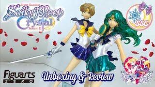 Sailor Moon Crystal Figuarts Zero Sailor Uranus & Neptune Figures Unboxing & Review ~ セーラームーンクリスタル