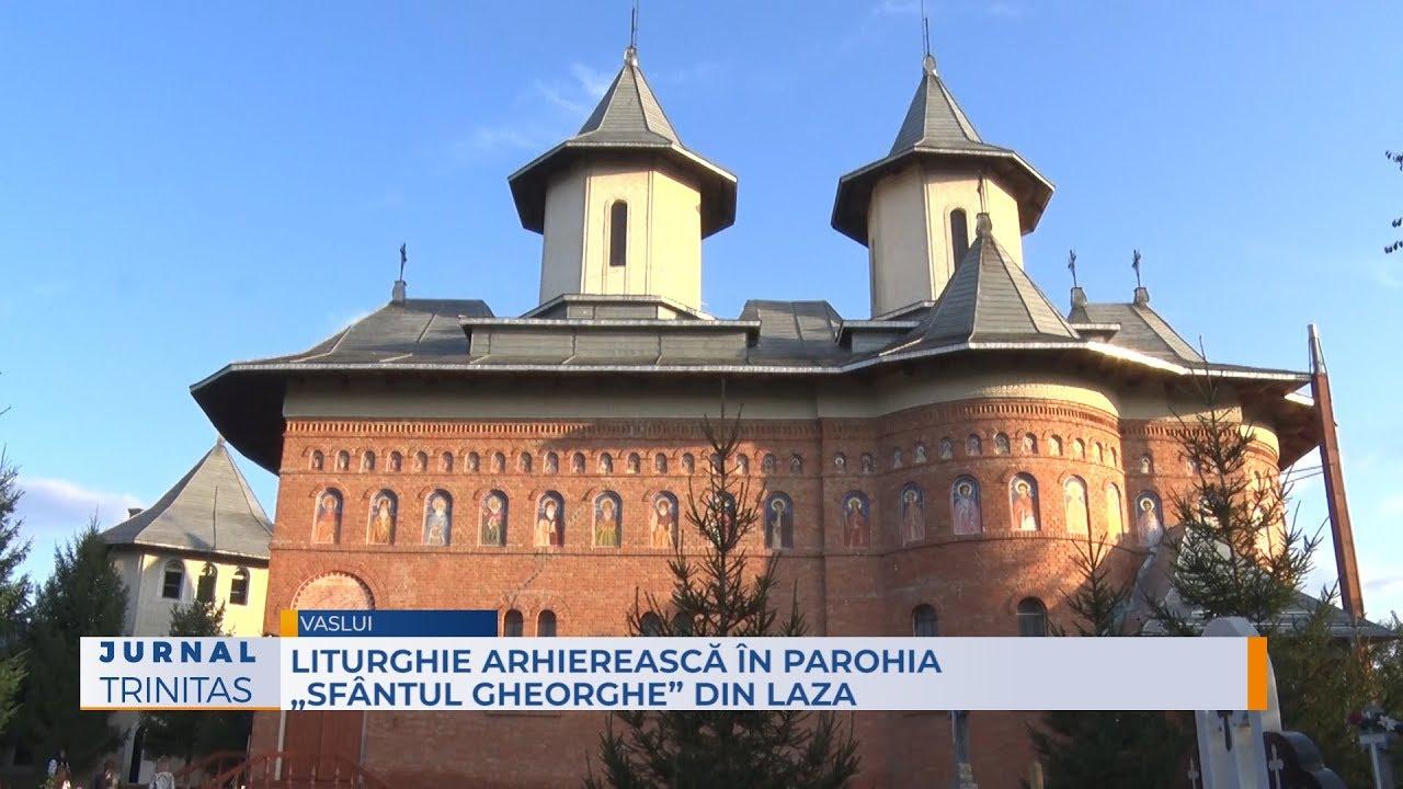 """Liturghie arhierească în Parohia """"Sfântul Gheorghe"""" din Laza"""