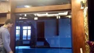Стеклянная дверь гармошка (раздвижная)(Компания