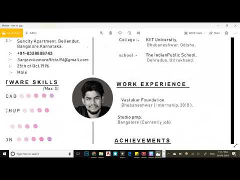 How To Make RESUME / CV/ COVER LETTER / Architecture Or Interior Designer / Engineer