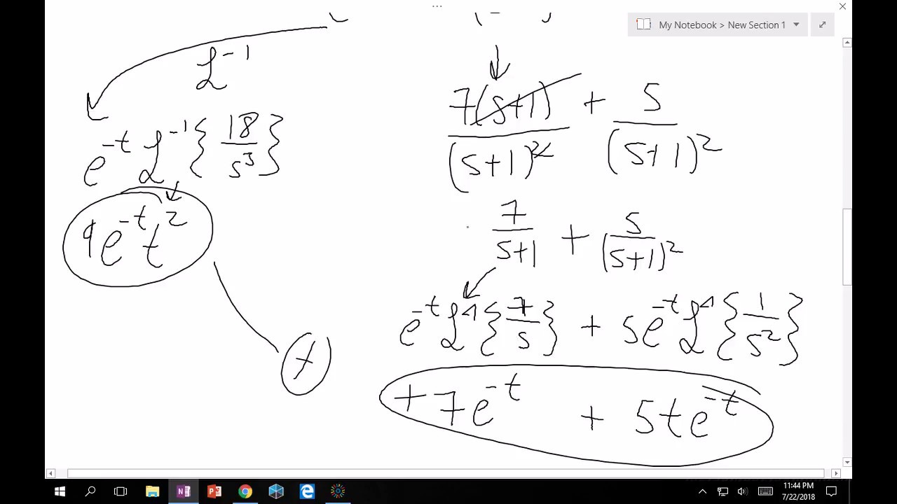5.4 Solving Differential Equations with Laplace Transforms