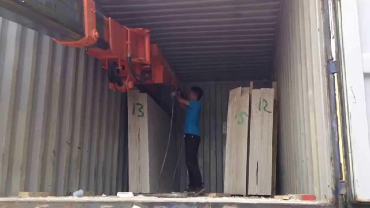 Cummins For Sale >> telehandler working video telehandler for unloading marble slabs from containers - YouTube