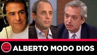 Alberto Fernández MODO DIOS pasea con una sutileza increíble a Tenembaum y Sietecase