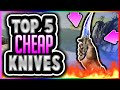 CSGO SKINS - TOP 5 KNIVES UNDER $100!! TOP 5 Cheap Knives in CSGO (Best CHEAP Skins in CS GO)