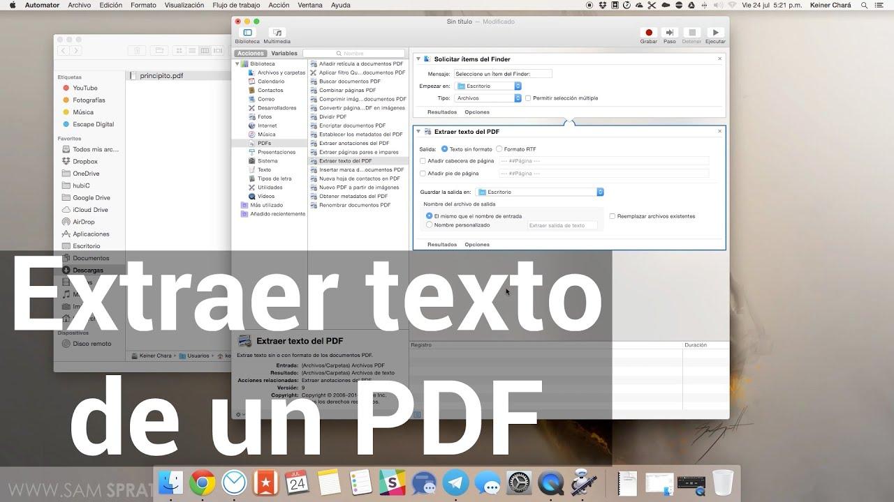Cómo extraer texto de un PDF en Mac - YouTube