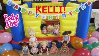 BABY ALIVE Celebrate's KELLI MAPLE'S BIRTHDAY!!
