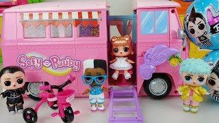Baby doll camping car and LOL Surprise Boy Series Dolls toys play LOL 보이 시리즈 캠핑카 놀이 - ToyMong TV 토이몽