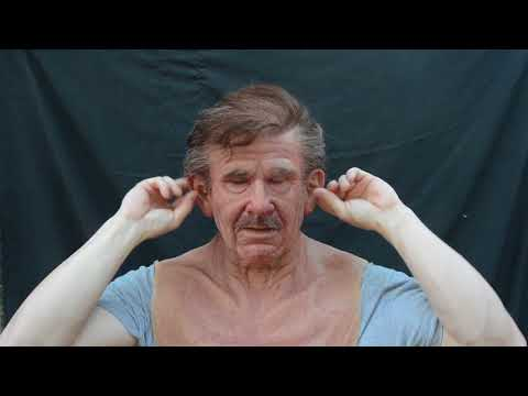 The Old man silicone mask by Metamorphose masks Making and Unmasking
